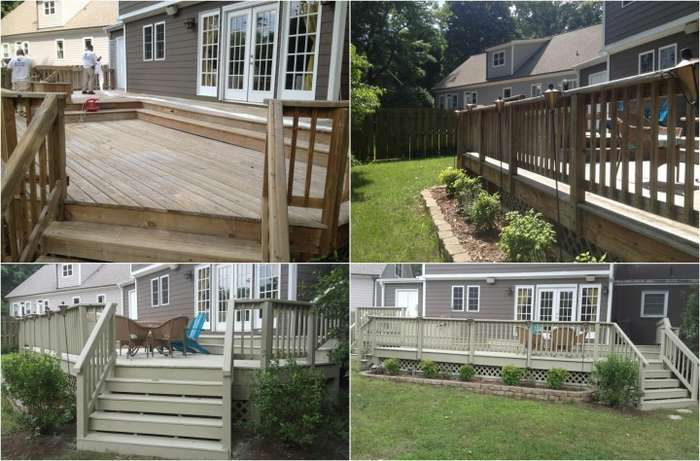 Deck Staining Project in Charlotte, NC completed by Excel Pro Service LLC