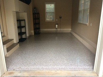 After 3 Car Garage Epoxy Floor in Mooresville, NC