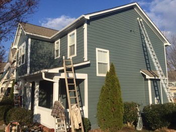 Before & After Outdoor Painting Huntersville, NC