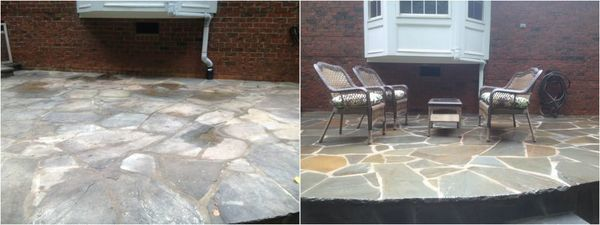 Flagstone Patio Cleaning in Charlotte (1)