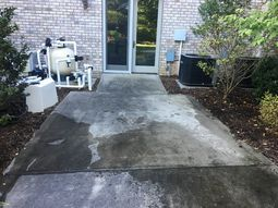 Mooresville NC Lake Norman Concrete Cleaning Before & After (1)