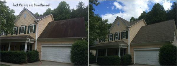 Before & After Roof Cleaning in Huntersville, NC (1)