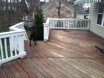 Before Deck Staining NC