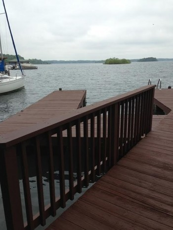 After Dock Staining NC