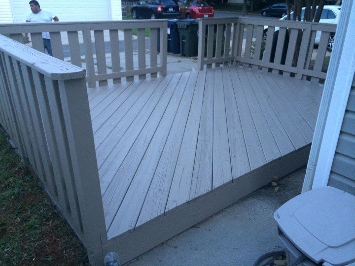 Before and After Deck Staining Davidson, NC