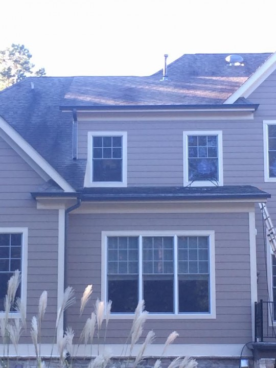 Before and After Roof Cleaning Mooresville, NC